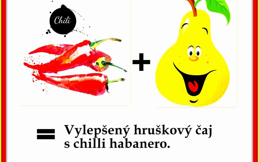 Pečený čaj hruška s chilli